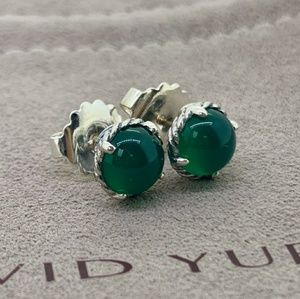 David Yurman Chatelaine Earrings with Green Onyx
